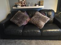 Black 3 Seater Sofa