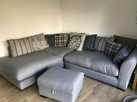 DFS corner sofa and storage footstool