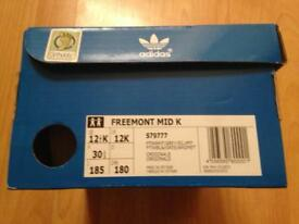 Kids adidas freemont Mid K trainers size 12 childrens