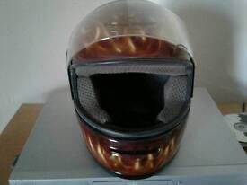 Airbrushed crash helmet..