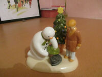 "CHINA SNOWMAN by COALPORT....""CHRISTMAS FRIENDS"".....LIMITED FIRST EDITION....just £35."
