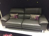 2 seater recliner sofa in Graphite (Salone range @ DFS) RRP £1695 2 MONTHS OLD