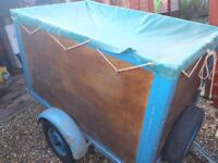 trailer 5foot long steel frame and wood with cover