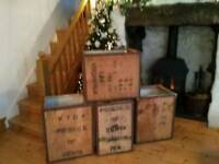 Tea chests x 4
