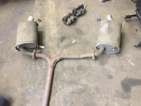 honda accord type r h22a7 ch1 cat back oem exhaust