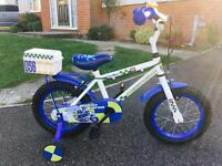 "Boys Bike 14"" Wheel with Stabilisers"