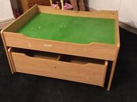 Double train table with storage