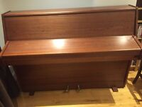 British made Zender upright overstrung Piano