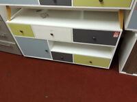Hygena Lumina 1 Door 5 Drawer Sideboard-multicoloured