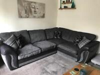 DFS CORNER SOFA AND FOOTSTOOL WITH STORAGE