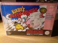 Kirby's Dream Course Super Nintendo SNES Boxed!