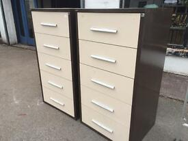 Two large steel drawer cabinets