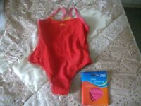 Swimming Costume and Swimming Hat / ZOGGS