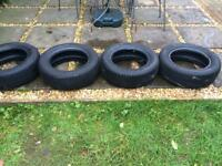 Full set of 14 inch winter tyres - £100 ono