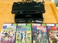 Xbox 360 console + Kinect + games