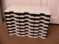 A4 21 Pigeon Hole Document Organiser Office Paperwork Filing / Supplies Storage Unit for sale  Pinxton, Nottinghamshire