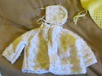 baby sweaters /blankets hand made 10.00 each