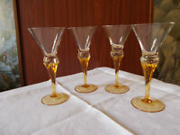 SET OF FOUR POLISH SHERRY GLASSES