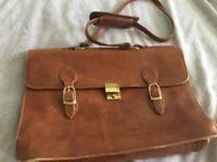 Leathe VINTAGE SATCHEL Laptop bag Tula make quality