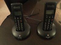 BT 2100 Twin Graphite cordless phones