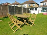 Garden Table with 6 Garden Chairs