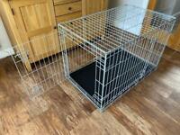 Double door medium dog crate