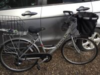 Bicycles; Ladies Dawes Red Feather Bike. Hardly used. With accessories