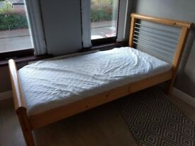 Single Bed with Memory Foam Mattress