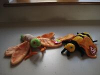 Ty Beanie Baby Fire Fly & Bee