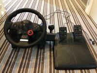 Play station 3 steering wheel and pedals