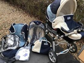 Jane Slalom Pro pushchair travel system, car seat, cot plus lots more