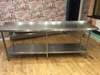 Stainless steel food counter
