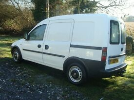 VAUXHALL COMBO 1.3CDTI, 2008,62,000 MILES, NEW: CLUTCH,TYRES & MOT, TWIN SIDE DOORS, PLY LINED