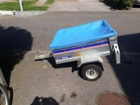 Franc Trailer. vgc only been used about 6 times. spare wheel. Full electric hook up. Rear lights.