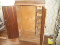 1950's short wardrobe/armoire with lifting lid
