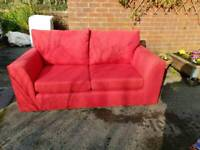 d6a170ec1a8 John Lewis 2 Seater Sofa in Red