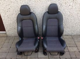 Ford Fiesta Mk6 Zetec S or Sport Front Half Leather Seats