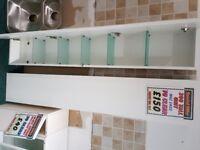 GLOSS WHITE BATHROOM TALL UNITS 1 X LH HINGE 1 X RH HINGE 300mm WIDE