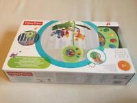 Fisher price rainforest peek-a-boo music cot mobile with remote control