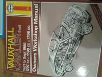 haynes vauxhall cavaloer 1981 -1986 owners workshop manual
