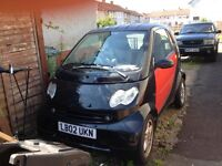 Smart FourTwo for sale Spares or Repair £500 ono