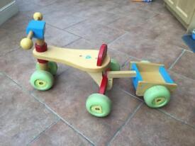 Mothercare bike with trailer