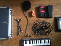 Box set of music equipment