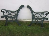 BENCH ENDS HEAVY DUTY CAST IRON (NOT THE CHEAPO LIGHTWEIGHT ALLOY TYPE)
