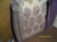A THICK WOOLEN RUG 60inches by 30 Inches ,a PRETTY COLOURED FLORAL PATTERN ++++++