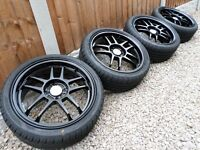 "17"" GENUINE ROTA ALLOY WHEELS & NEW TYRES 4x108 *REFURBED* ford fiesta st vans"