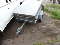 Erde 102 Tipping trailer Hardly used with top cover