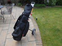 Golf set, bag, trolley & accessories