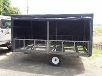Galvanised Trailer with waterproof removable cover
