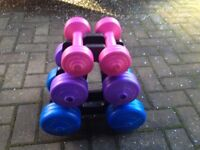 BRAND NEW PYRAMID OF DUMBELLS